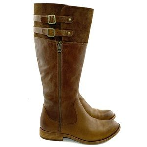 Kork Ease Sz 6.5 Leather Suede Buckle Boots